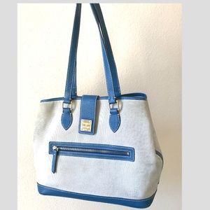 Dooney & Bourke blue Canvas & leather satchel